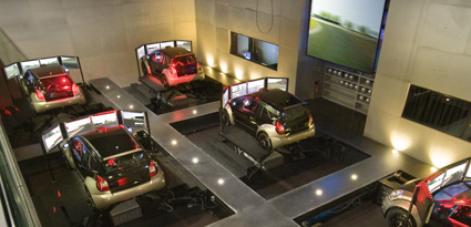 Simulation course automobile